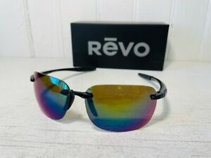 REVO RE1070XL 01 GN DESCEND XL Black w Evergreen POLARIZED Lenses Suns $199