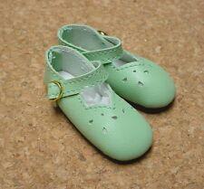 "Doll Shoes, SLIM*  58mm LT GREEN Girl Dressy - fits 14"" Kish"