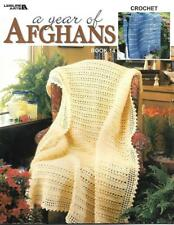 A Year of Afghans to Crochet Book 14 Leisure Arts #3491 38pgs full of Patterns