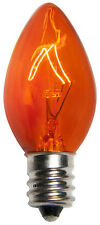 C-7 ORANGE CLEAR TWINKLE BULBS - BRAND NEW 2 BOXES OF 25 C7 AMBER BULBS