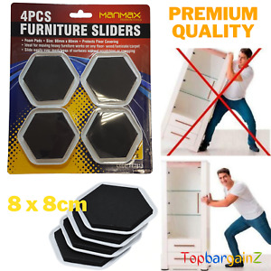 Furniture Sliders Gliders Heavy Duty Magic Moving Pads Carpets Hard Floor 4pcs