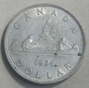 1936 Canadian Silver Dollar