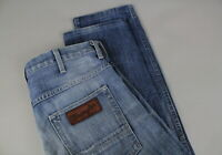 WRANGLER SPENCER Men's W31/~L31 Stone Wash Button Fly Blue Jeans 17822-JS