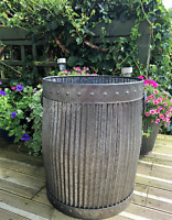 Extra Large Dolly Tub Planter Vintage Style Garden Plant Pot Container Zinc
