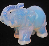 Moonstone Hand Carved Elephant statue 55mm