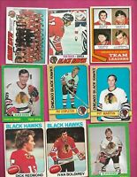 VINTAGE CHICAGO BLACK HAWKS OPC 23 CARD LOT INLC MIKITA CL  (INV# C9075)