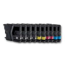 10 Druckerpatronen kompatibel mit BROTHER MFC-J415W DCP-J125 DCP-J315W DCP-J515W
