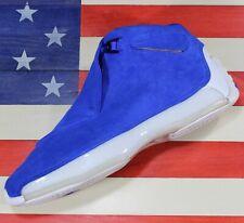 90506a11666 Nike Air Jordan Retro XVIII 18 Racer Blue Suede Basketball Shoe [AA2494-401]