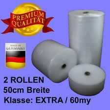 2 ROLLEN 50cm BREITE Klasse EXTRA 60my LUFTPOLSTERFOLIE #NA015