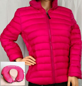 Turbine Women's Down Jacket Packable into Travel Pillow Pink