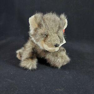 "Russ Berrie Howlie Wolf Pup Plush Toy Handmade 8"" Long NWT Stuffed Animal"