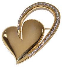 Broche Coeur Cadeau St Valentin deux COEURS Broche style faberge deco strass