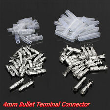 50 Set 4mm Bullet Male&Female Wire Crimp Connectors Terminal w/Insulation Sheath
