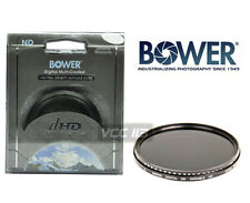 BOWER 52MM NEUTRAL DENSITY VARIABLE ND FADER FILTER LENS 2 ND4 ND8 ND400 ND1000