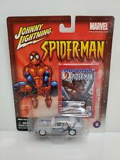 Rare Johnny Lightning Spider-Man 1970 Ford Mustang Mach 1 White Lightning Chase
