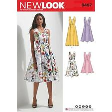 NEW LOOK SEWING PATTERN MISSES' Dress with Bodice & Length Variations 8-20 6497