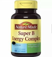 NATURE MADE SUPER B ENERGY COMPLEX 60 SOFTGELS SEALED EXPIRATION Oct/2020 2 PACK