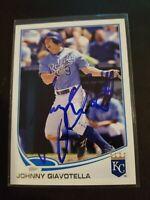 2013 Topps Baseball #493 Johnny Giavotella Kansas City Royals Signed Ip Auto MLB