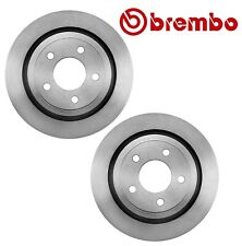 Pair Set of 2 Rear Disc Brake Rotors Coated 295mm 5 Lugs Brembo For Ford Mercury