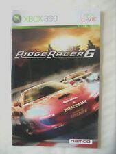 59414 Instruction Booklet - Ridge Racer 6 - Microsoft Xbox 360 (2005)