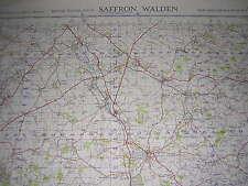 ORDNANCE SURVEY MAP 1952 WAR OFFICE EDITION. SAFFRON WALDEN. SHEET 152. 1 INCH
