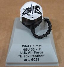 "Armour Pilot Helmet U.S.Air Force ""Black Panther"" Die-Cast 1:8 Scale! NEW #6021"
