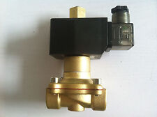 """Brass Normal Open  220V AC 1/2"""" Electric Solenoid Valve Water Air N/O"""