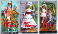 Mary Poppins Bert Jane & Michael Barbie Doll Collector Disney Lot 3 G