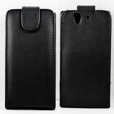 Leather Flip Pouch Cover Case For Sony Ericsson Xperia Z L36H C660X C6603