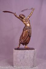 Rare Antique Beautiful Vienna Bronze Harem Sword Dancer