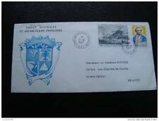 TAAF lettre 4/3/77 - timbre stamp - yvert et tellier n°63 aerien 47 (cy7)