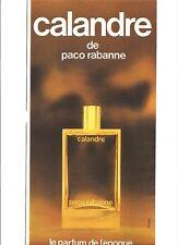 PUBLICITE 1970 PACO RABANNE Calandre parfum de l'Epoque
