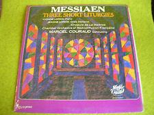 LP MESSIAEN-THREE SHORT LITURGIES-LORIOD-MARCEL COURAUD-US PRESS MONO MG 142