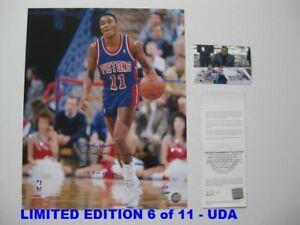 ISIAH THOMAS signed/autographed DETROIT PISTONS 16x20 Photo LIMITED 6/11 - UDA
