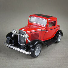 1932 Ford Coupe 1:34 Scale Die-Cast Vintage Model Car Opening Suicide Doors Red