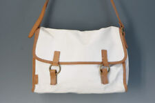 Authentic Paul Smith Shoulder Bag White Leather PVC Canvas Free Shipping 149f21
