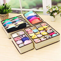 Underwear Bra Socks Ties Drawer Storage Organizer Boxes Closet Divider Tidy