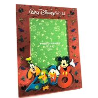 Walt Disney World Red Picture Frame 2008 Authentic Theme Parks '08 5x7 Photo