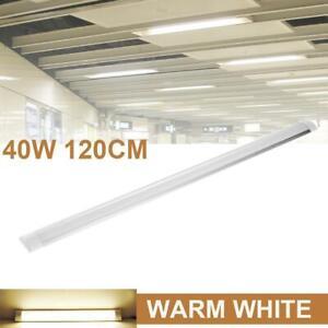 4FT LED Slim Ceiling Batten Tubes Light Fluorescent Bar Lamp Warm White 120CM