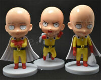 3Pcs/Set One Punch-Man Saitama Anime PVC Action Figure Model Toys Xmas GIft