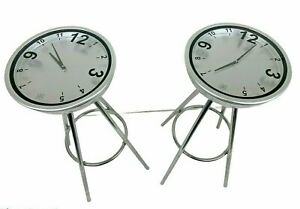 Pair of Margarita By Michele Venisti | Made in Italy | Stool With Clock #5B8570