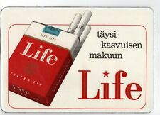 Vintage Mat Pad Advertising Life Filter Cigarettes In Finnish Language ! Finland