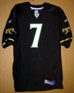 JACKSONVILLE JAGUARS BYRON LEFTWICH Black #7 AUTHENTIC NFL Size 54 JERSEY