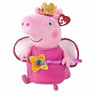 Ty Beanie Buddies Peppa Pig Princess 20cm Plush Soft Toy