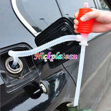 Portable Manual Car Siphon Hose Oil Gas Pump Sucker Water Liquid Transfer Hand