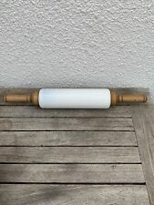 More details for 1921 imperial manufacturing cambridge ohio usa white glass and wood rolling pin