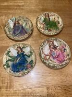 Lot Of 4 Angel Plates Ceramic Resin Style Figures