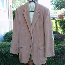 CARLO BRIANI Jacket Blazer brown corduroy mens S 38 Long w/Leather Elbow Patches