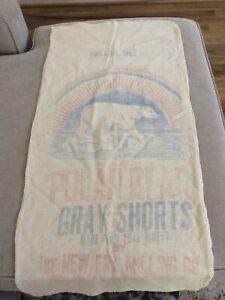 Vintage Original POLAR BEAR Flour 100 lb. Sack Cloth Bag
