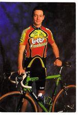 CYCLISME carte cycliste FABIEN DE WAELE équipe LOTTO MOBISTAR 1999